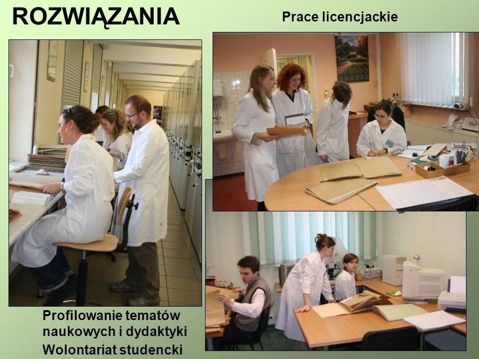 ROZWIĄZANIA Prace licencjackie Profilowanie tematów