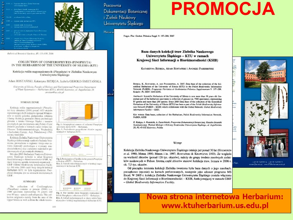 Nowa strona internetowa Herbarium: www.ktuherbarium.us.edu.pl