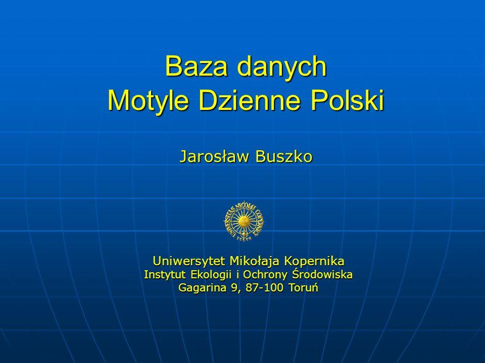 Baza danych Motyle Dzienne Polski