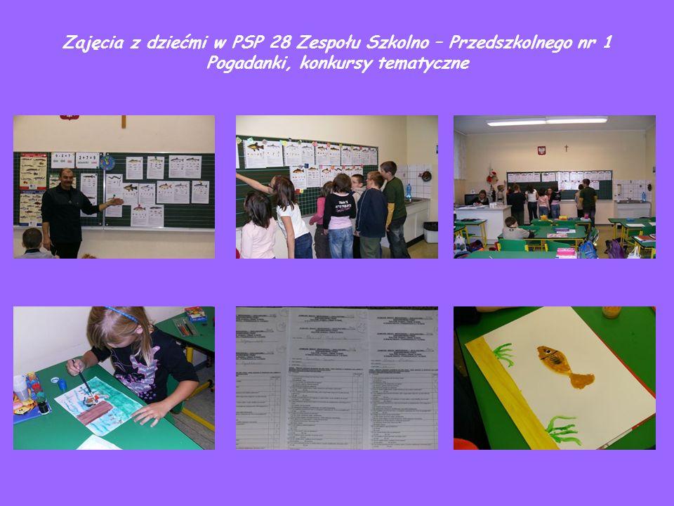 Zajęcia z dziećmi w PSP 28 Zespołu Szkolno – Przedszkolnego nr 1 Pogadanki, konkursy tematyczne
