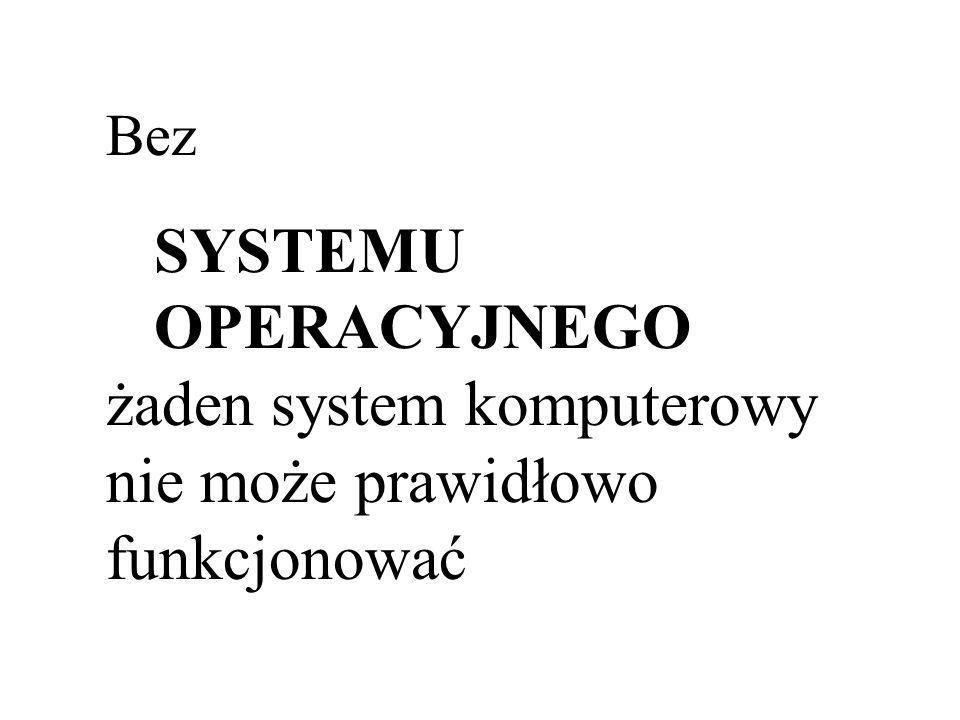 żaden system komputerowy nie może prawidłowo funkcjonować