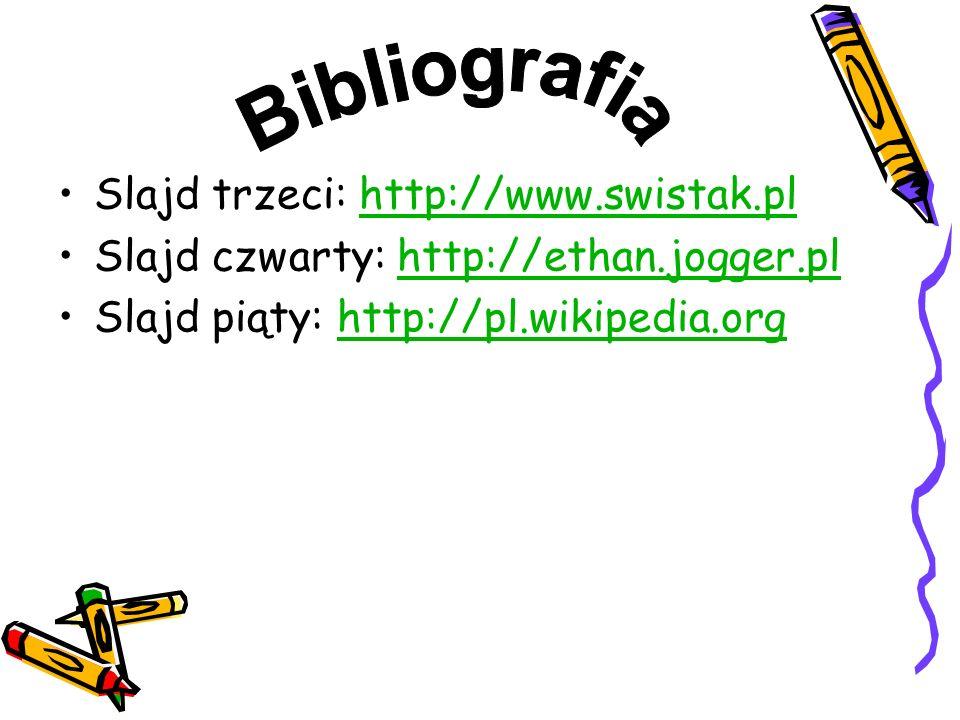 Bibliografia Slajd trzeci: http://www.swistak.pl