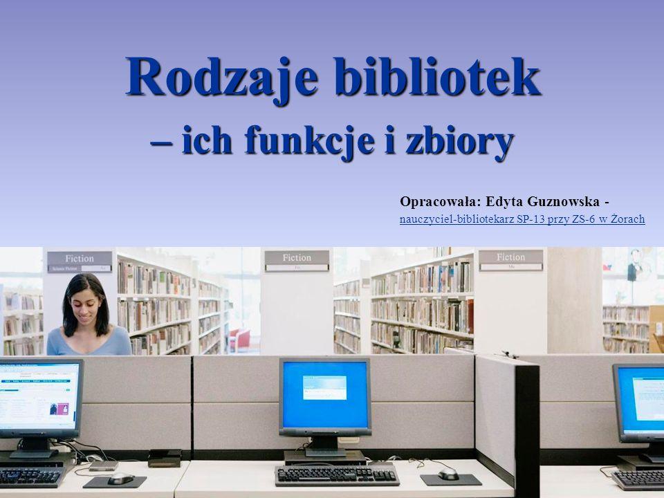 Rodzaje bibliotek – ich funkcje i zbiory
