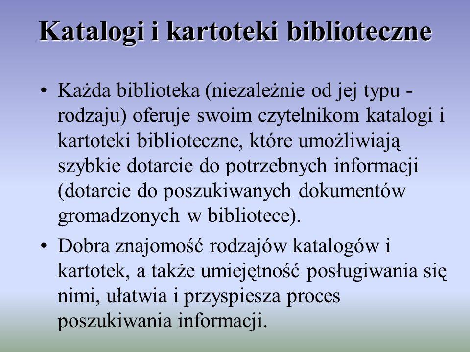 Katalogi i kartoteki biblioteczne
