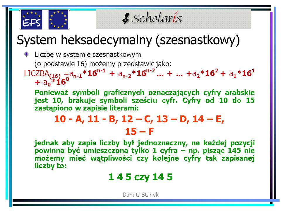 System heksadecymalny (szesnastkowy)