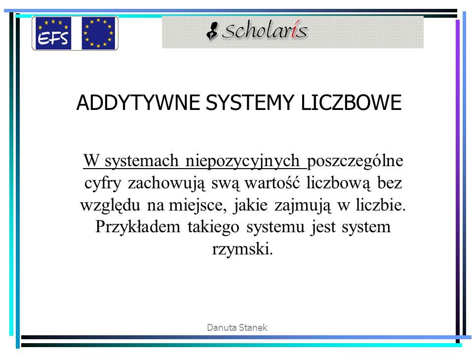 ADDYTYWNE SYSTEMY LICZBOWE
