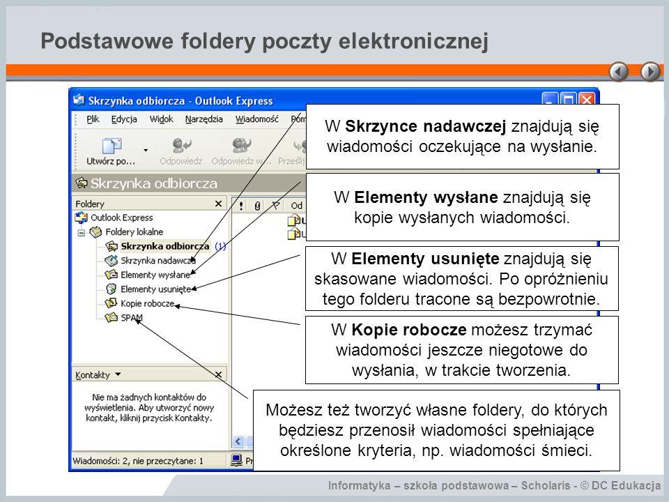 Podstawowe foldery poczty elektronicznej