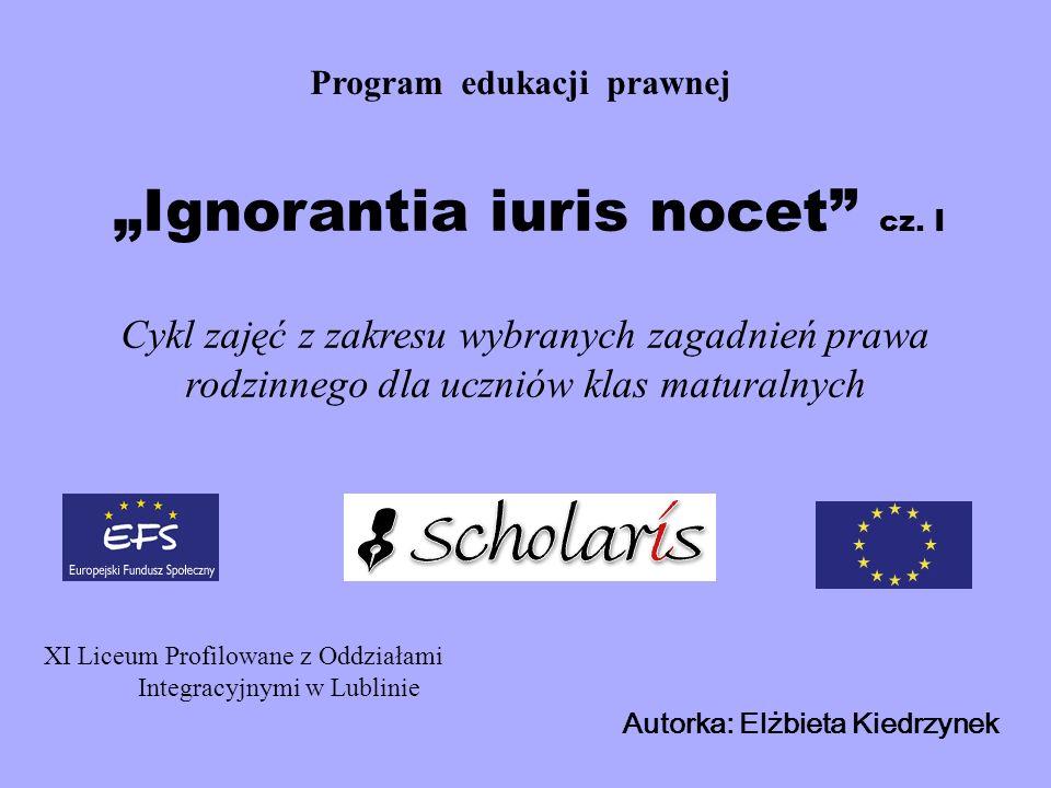 """""""Ignorantia iuris nocet cz. I"""
