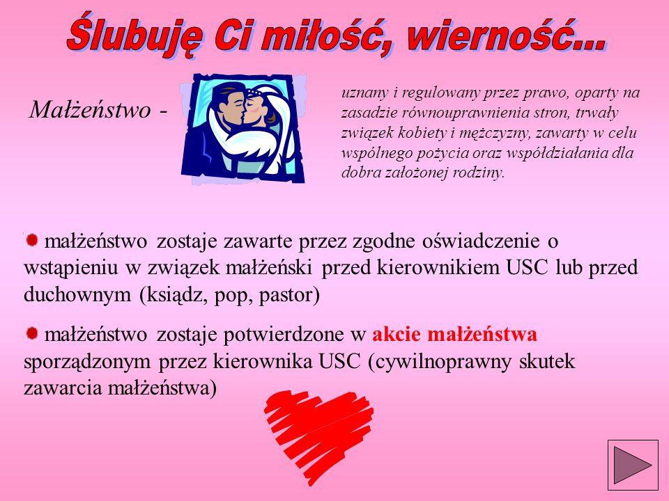 Ślubuję Ci miłość, wierność...