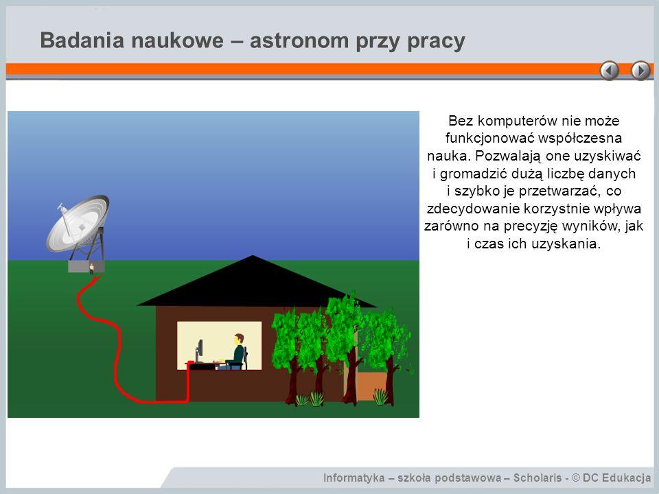 Badania naukowe – astronom przy pracy