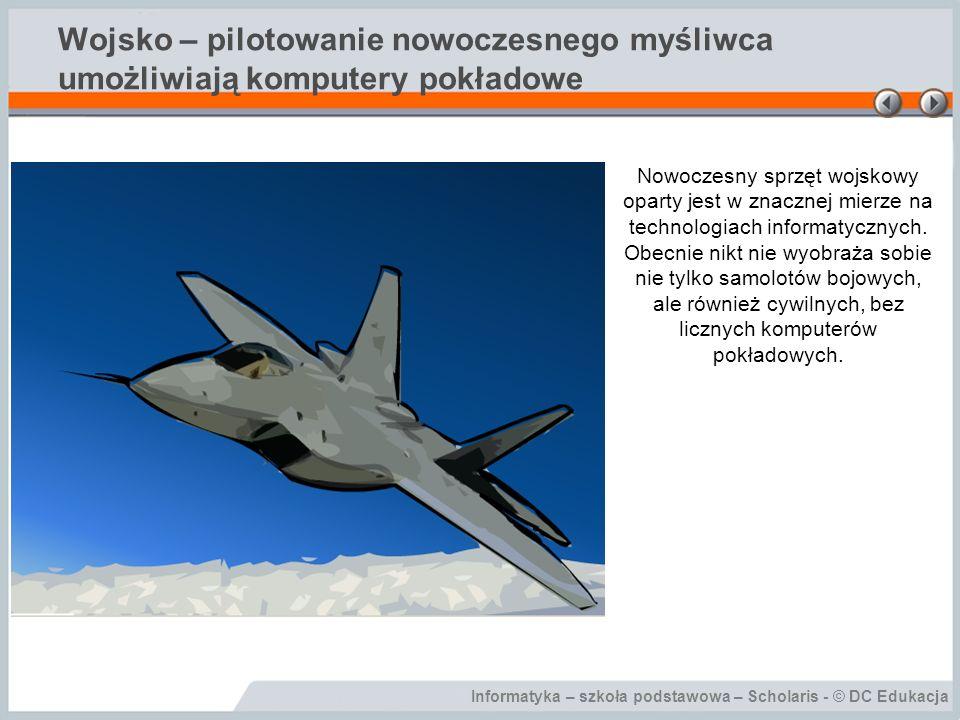 Wojsko – pilotowanie nowoczesnego myśliwca umożliwiają komputery pokładowe