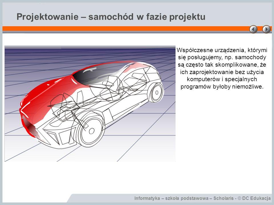 Projektowanie – samochód w fazie projektu