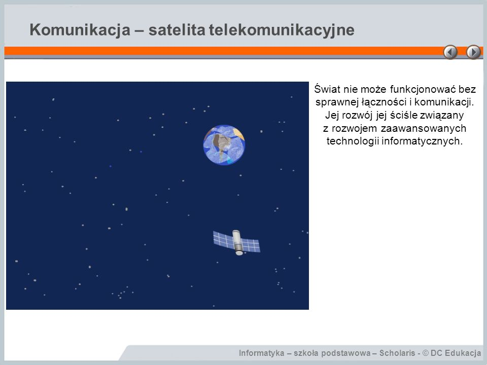 Komunikacja – satelita telekomunikacyjne