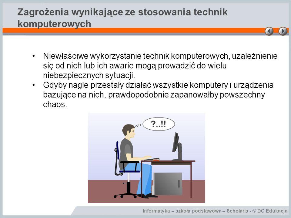 Zagrożenia wynikające ze stosowania technik komputerowych