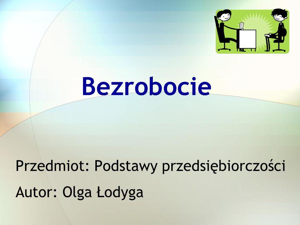 Przedmiot: Podstawy przedsiębiorczości Autor: Olga Łodyga