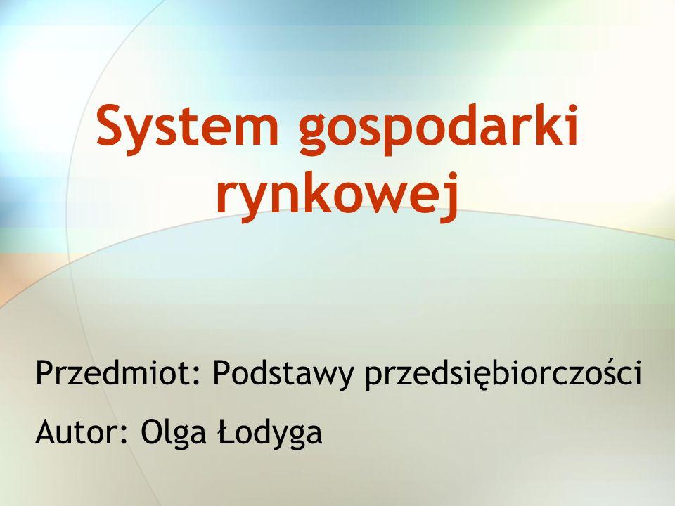 System gospodarki rynkowej