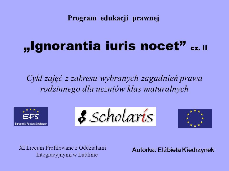 """""""Ignorantia iuris nocet cz. II"""