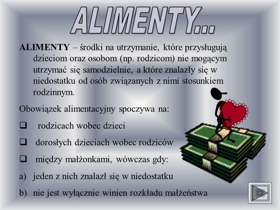ALIMENTY...