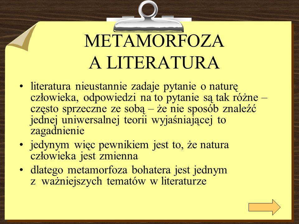 METAMORFOZA A LITERATURA