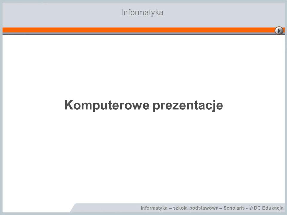 Komputerowe prezentacje