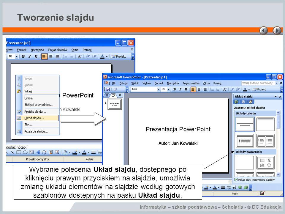 Tworzenie slajdu