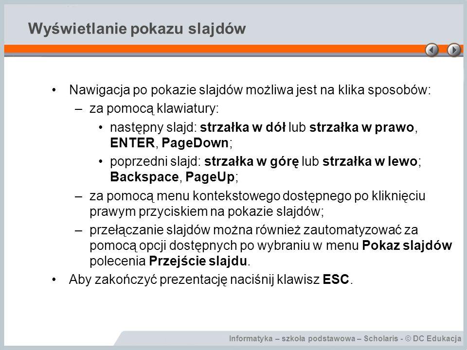 Wyświetlanie pokazu slajdów