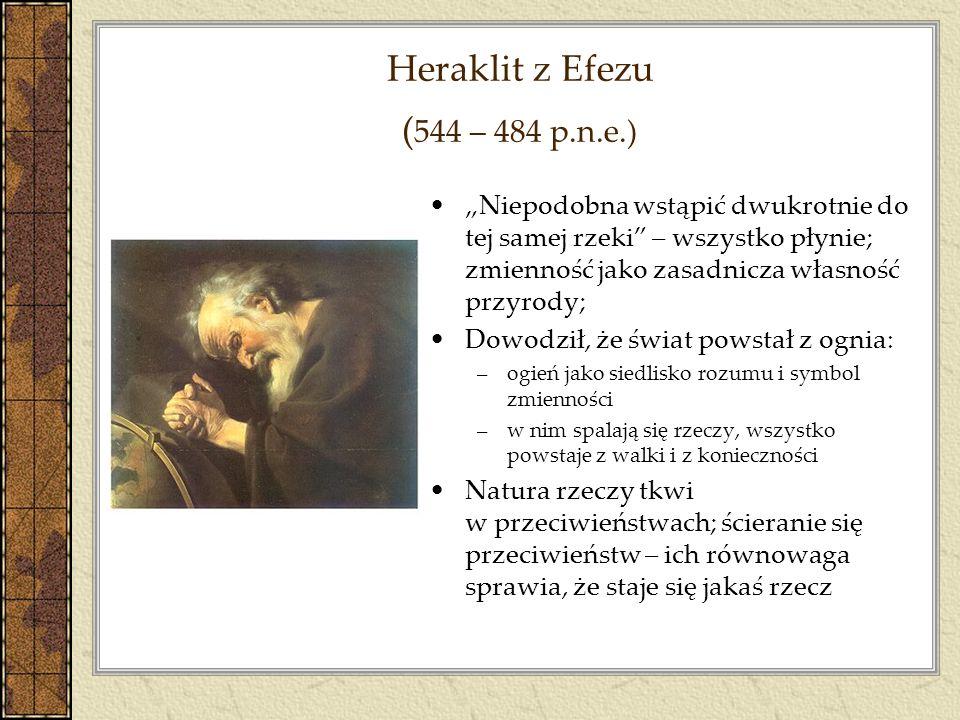Heraklit z Efezu (544 – 484 p.n.e.)