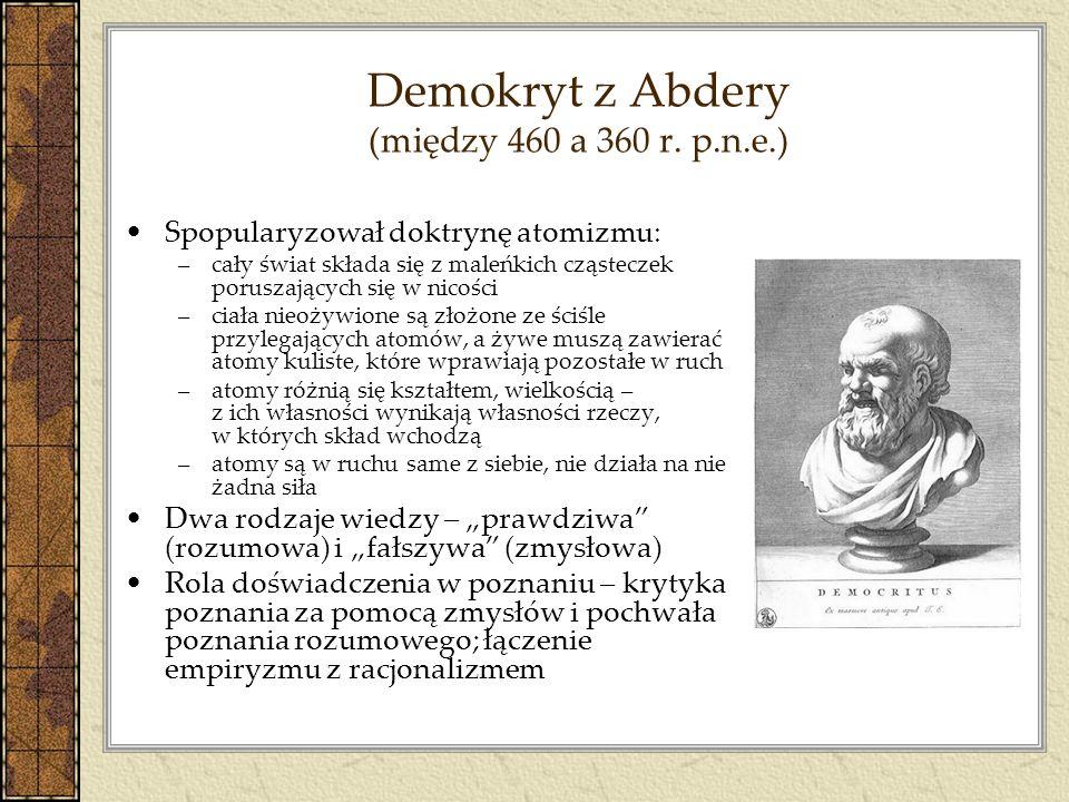 Demokryt z Abdery (między 460 a 360 r. p.n.e.)