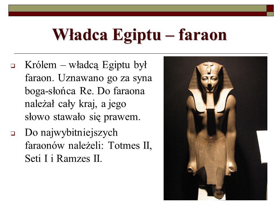 Władca Egiptu – faraon