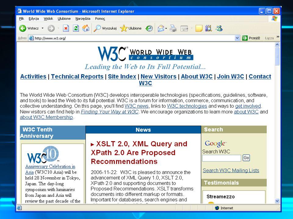 Czym jest xHTML xHTML to skrót od Extensible HyperText Markup Language, czyli rozszerzalnego hipertekstowego języka znaczników.