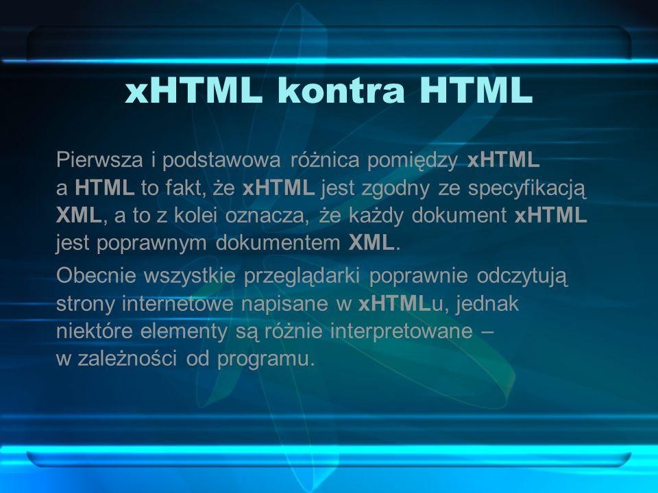 xHTML kontra HTML