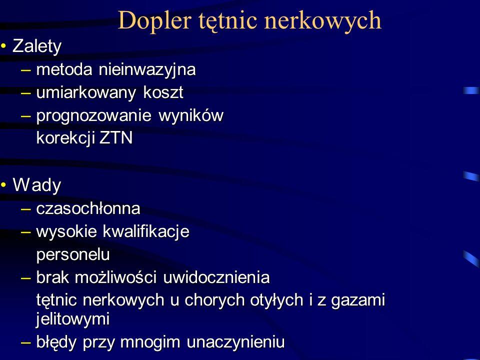 Dopler tętnic nerkowych