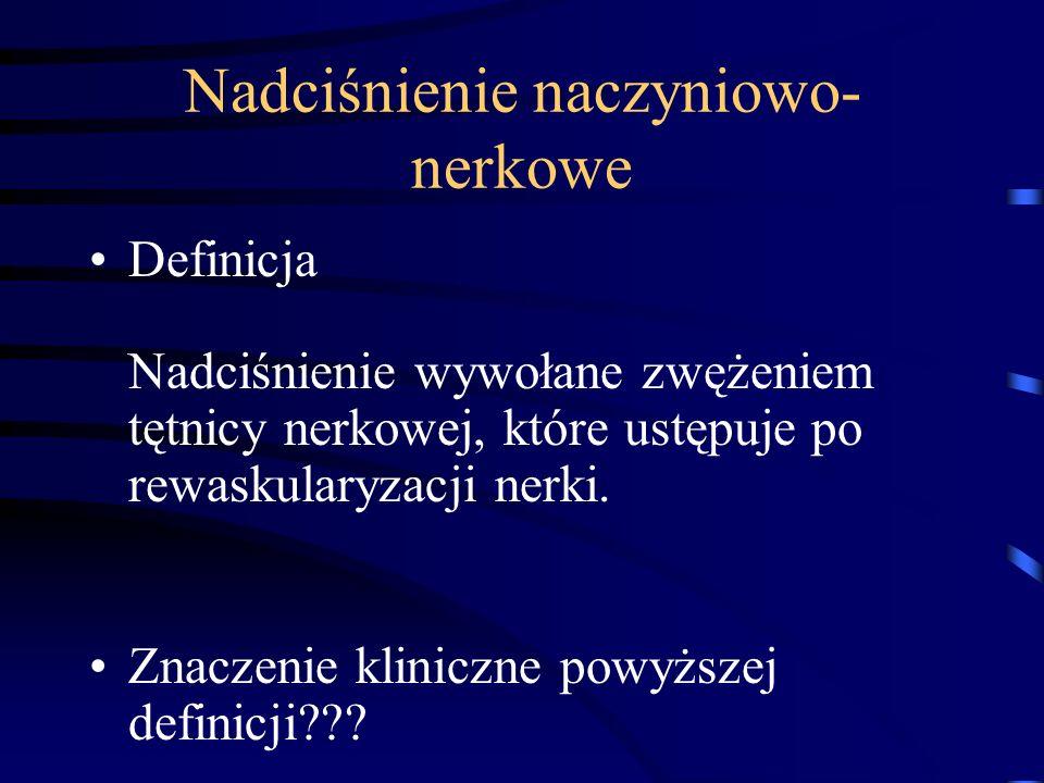 Nadciśnienie naczyniowo-nerkowe