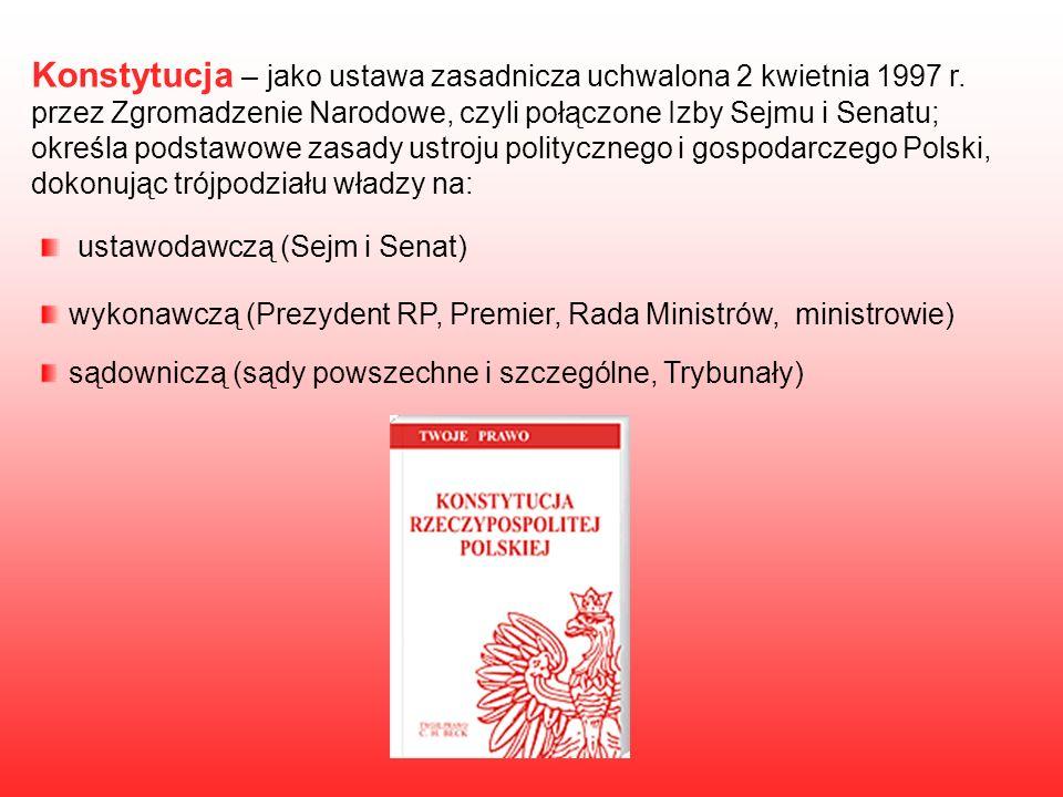 Konstytucja – jako ustawa zasadnicza uchwalona 2 kwietnia 1997 r