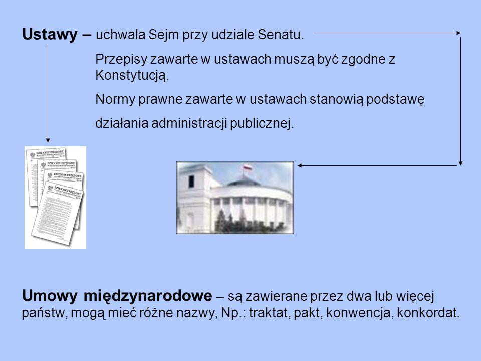Ustawy – uchwala Sejm przy udziale Senatu.