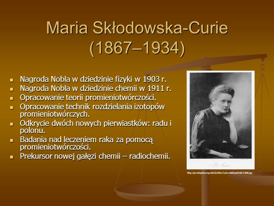 Maria Skłodowska-Curie (1867–1934)