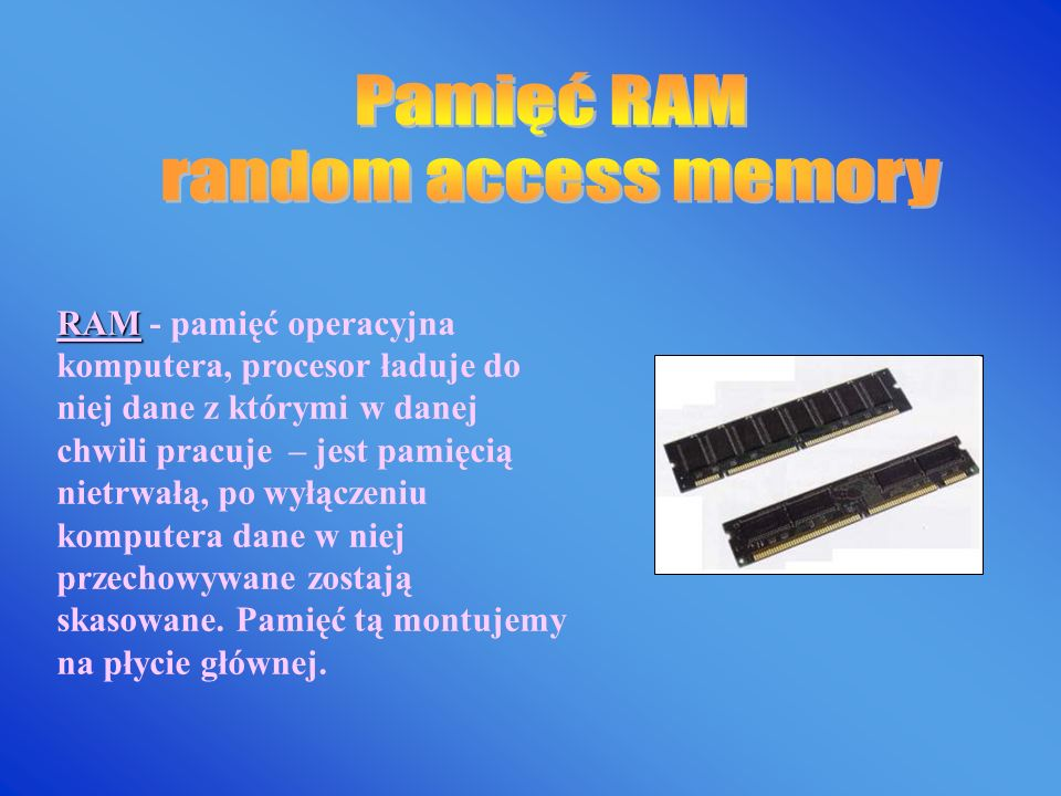 Pamięć RAM random access memory