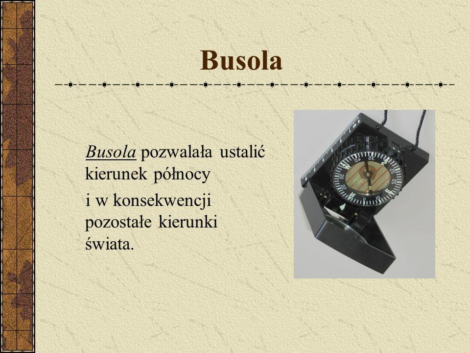 Busola Busola pozwalała ustalić kierunek północy