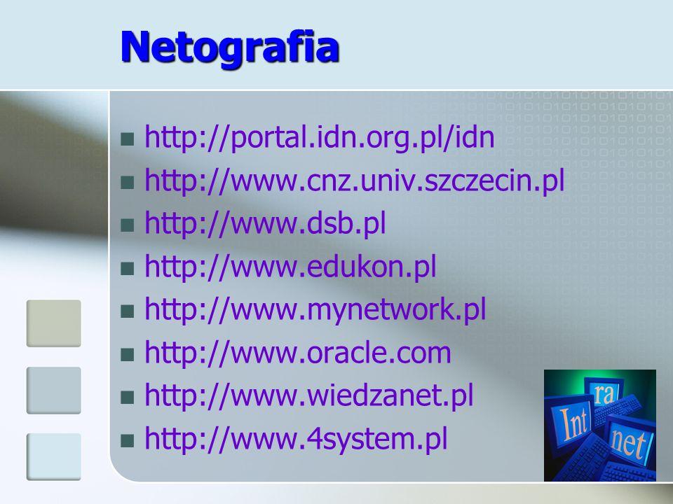 Netografia http://portal.idn.org.pl/idn