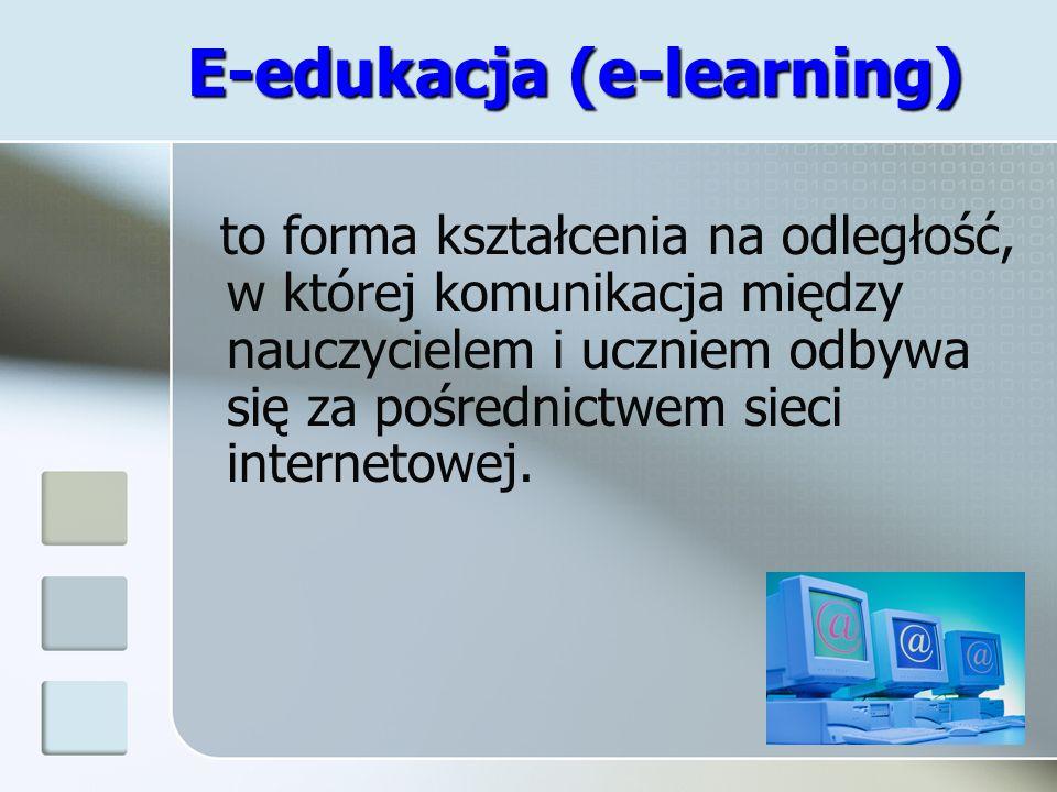 E-edukacja (e-learning)