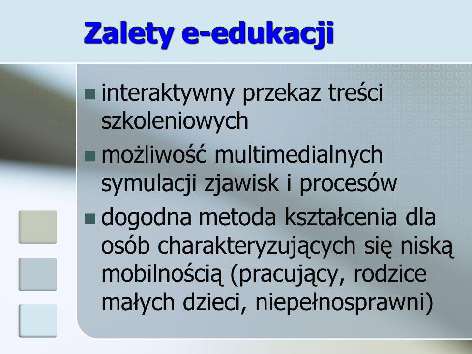 Zalety e-edukacji interaktywny przekaz treści szkoleniowych