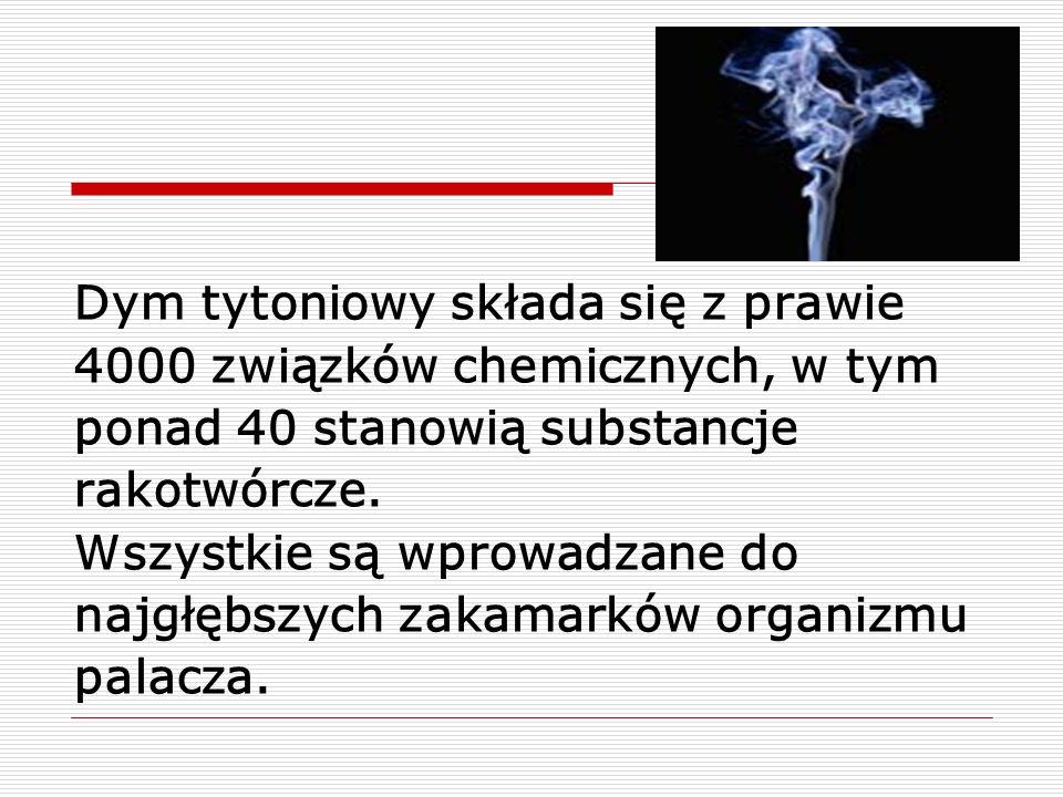 Dym tytoniowy składa się z prawie
