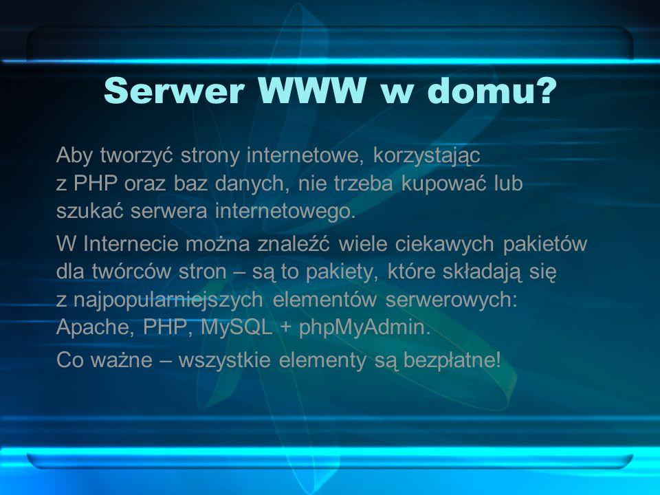 Serwer WWW w domu