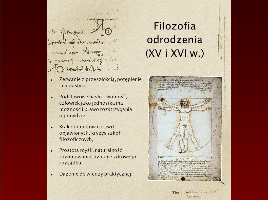 Filozofia odrodzenia (XV i XVI w.)