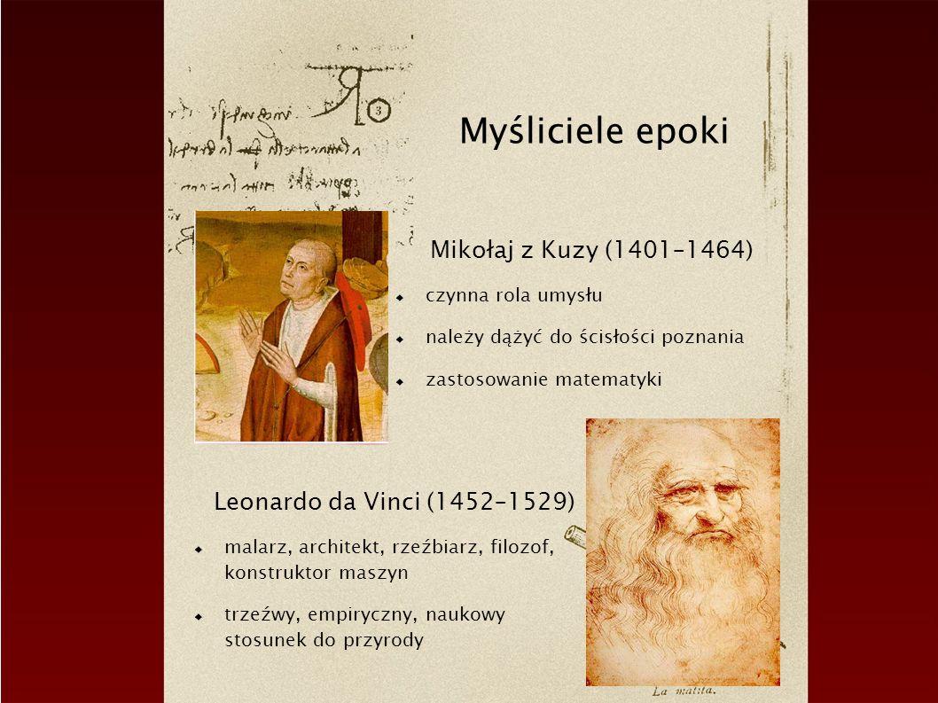 Myśliciele epoki Mikołaj z Kuzy (1401–1464)