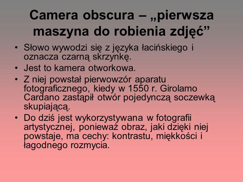 """Camera obscura – """"pierwsza maszyna do robienia zdjęć"""