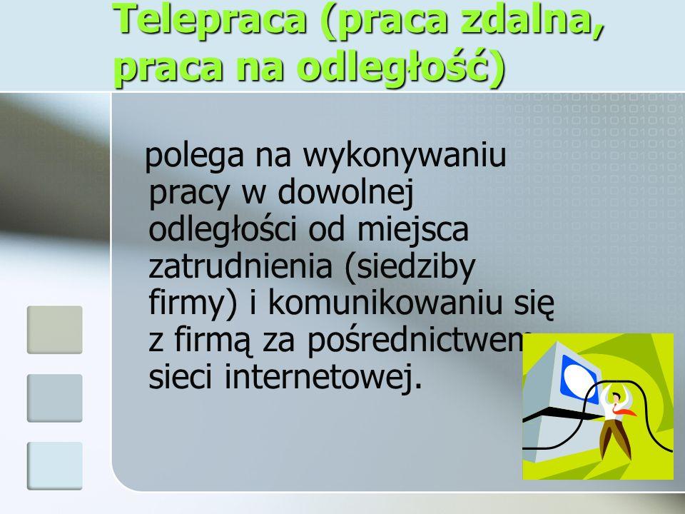Telepraca (praca zdalna, praca na odległość)