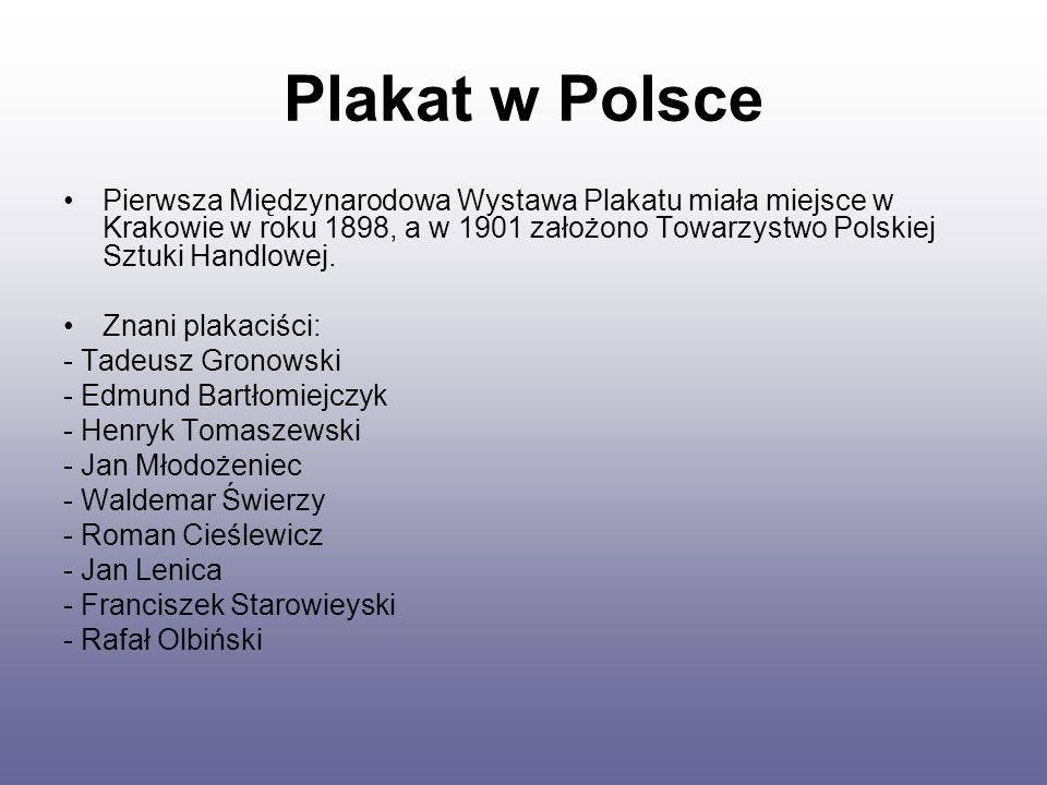 Plakat w Polsce