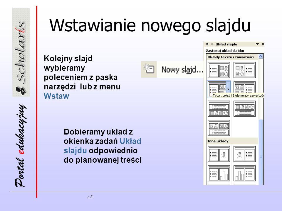 Wstawianie nowego slajdu