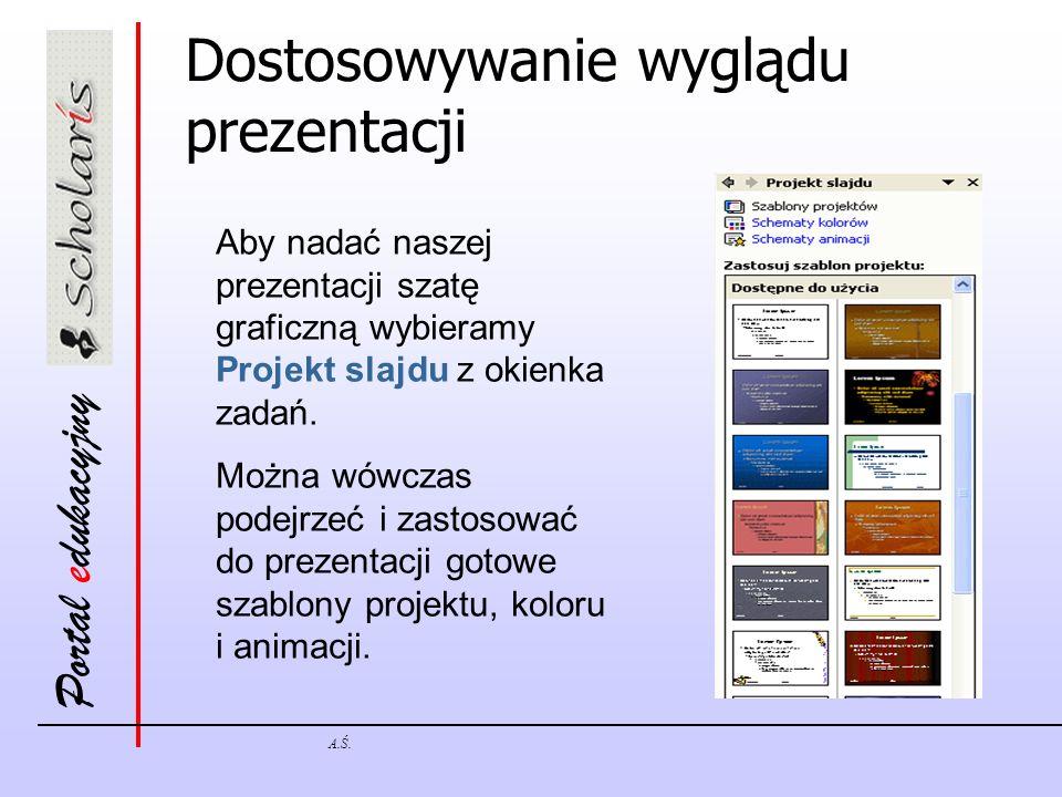 Dostosowywanie wyglądu prezentacji